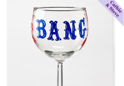 'Bang' Wine Glass