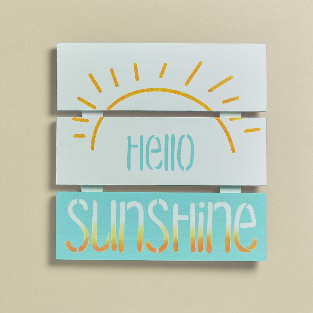 """Hello Sunshine"" Sign"
