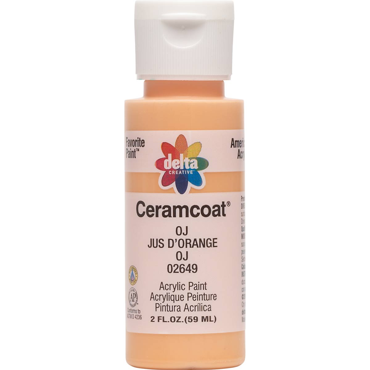 Delta Ceramcoat ® Acrylic Paint - OJ, 2 oz.