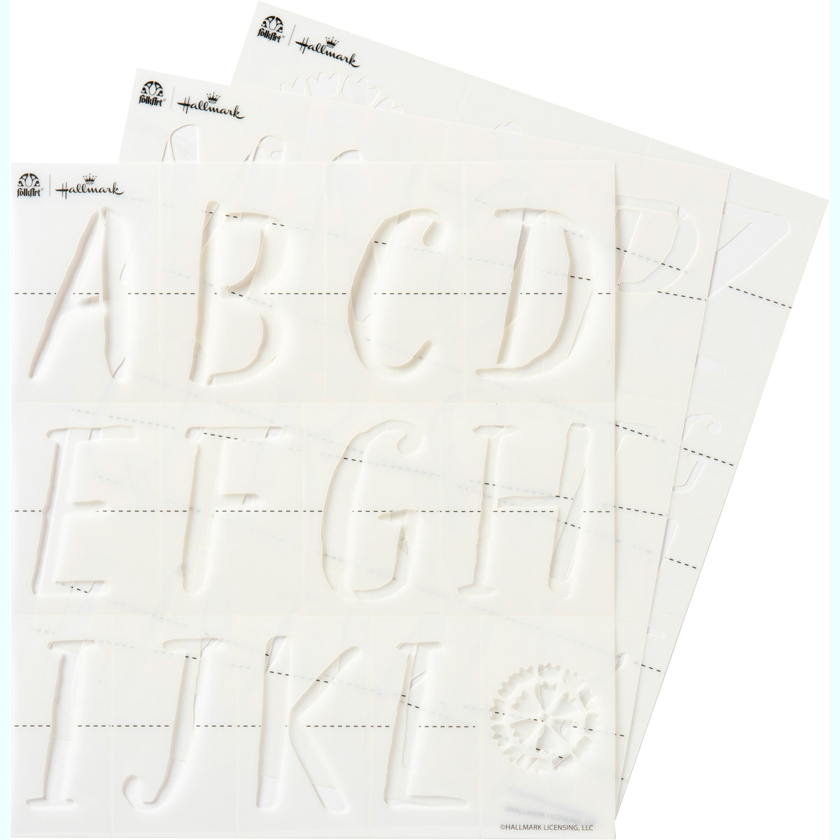 Hallmark Handcrafted Adhesive Stencils - Texture Font, 8-1/2