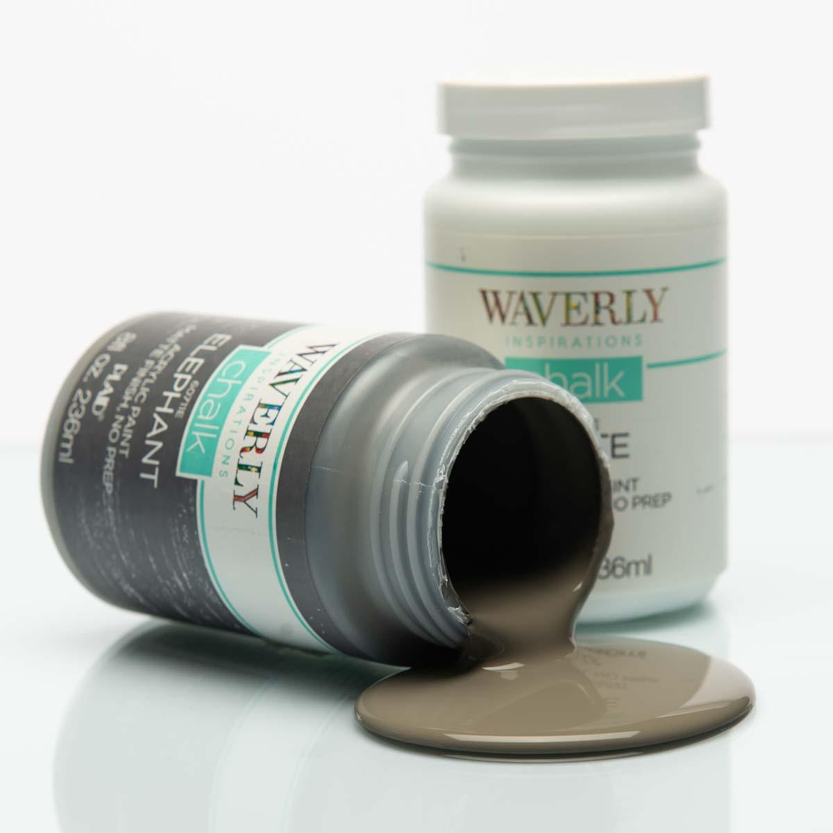 Waverly ® Inspirations Chalk Finish Acrylic Paint Set - White, Elephant, Ink, 3 pc. - 13405