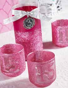Candle Holders for DIY Quinceanera