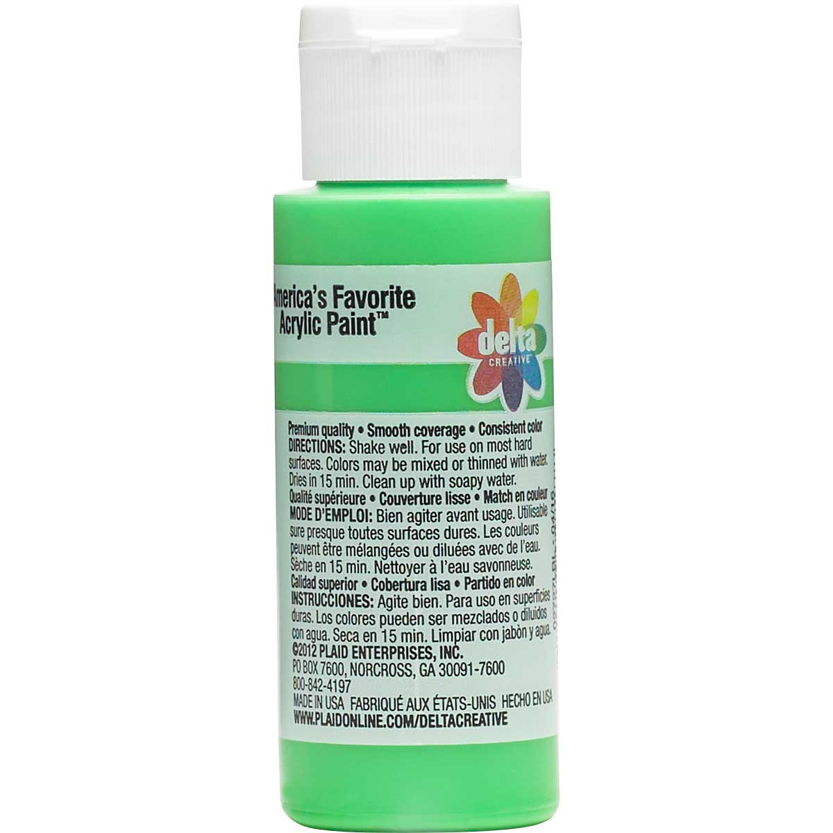 Delta Ceramcoat ® Acrylic Paint - Electric Lime, 2 oz. - 02727