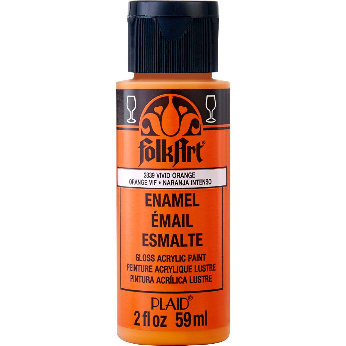 FolkArt ® Enamels™ - Vivid Orange, 2 oz. - 2839