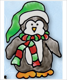 Winter Penguin Cling