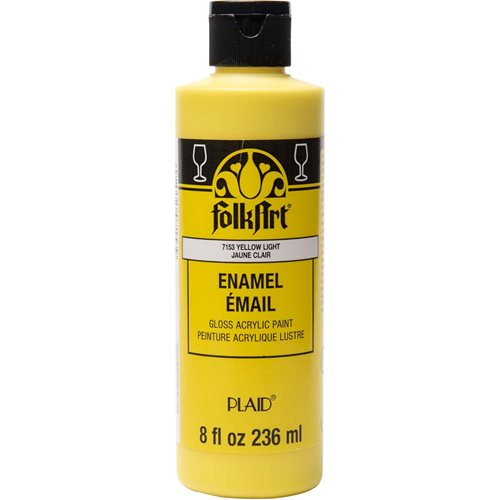 FolkArt ® Enamels™ - Yellow Light, 8 oz. - 7153