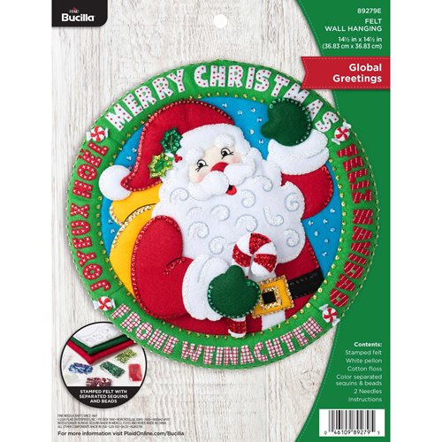 Bucilla ® Seasonal - Felt - Home Decor - Global Greetings Wall Hanging - 89279E