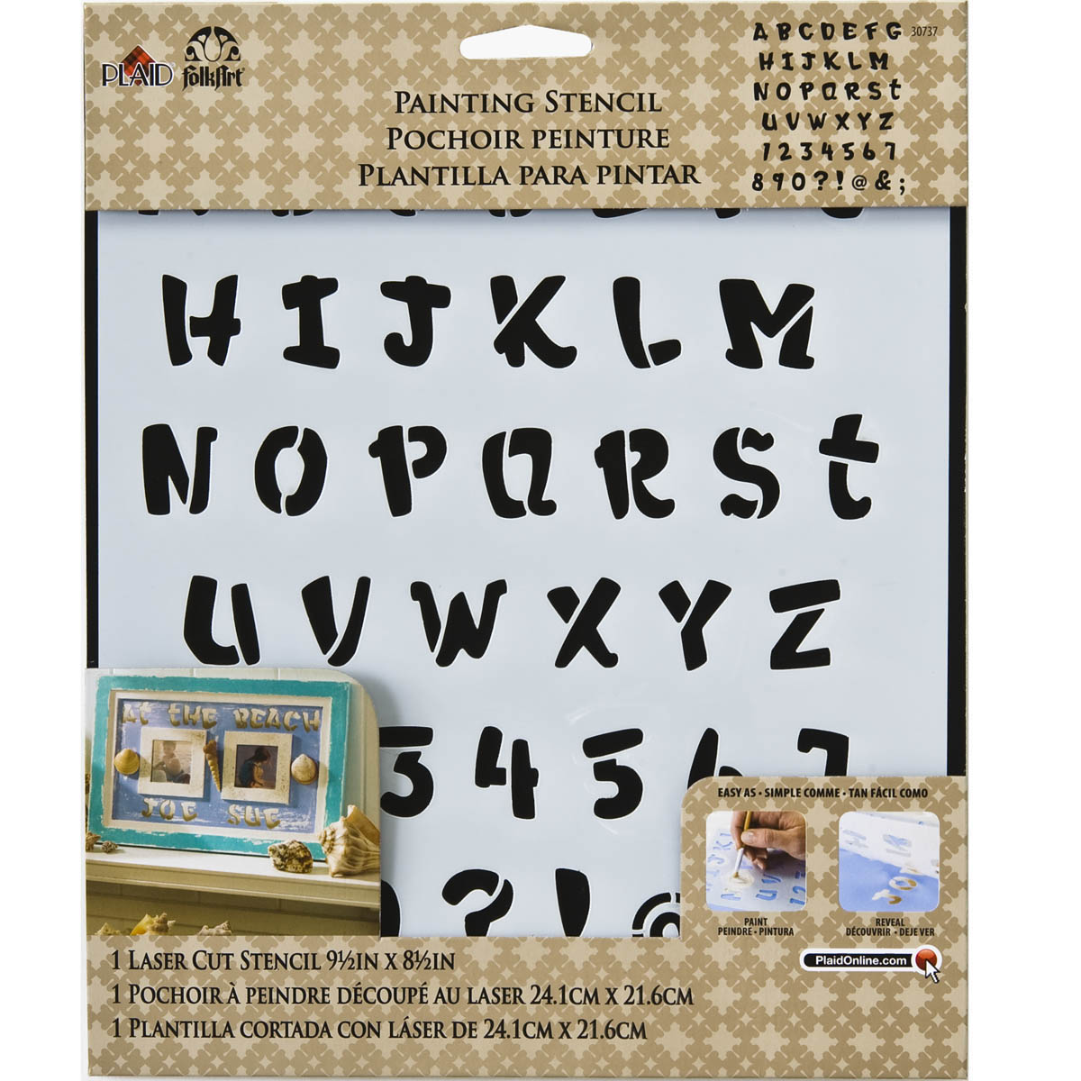 FolkArt ® Painting Stencils - Laser - Alphabet Heavy Marker