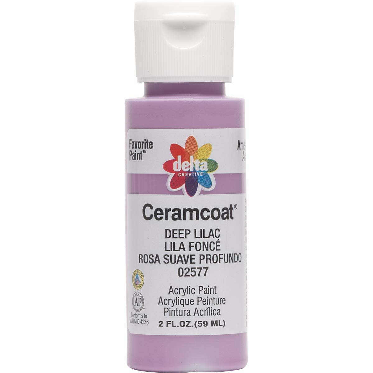 Delta Ceramcoat ® Acrylic Paint - Deep Lilac, 2 oz.