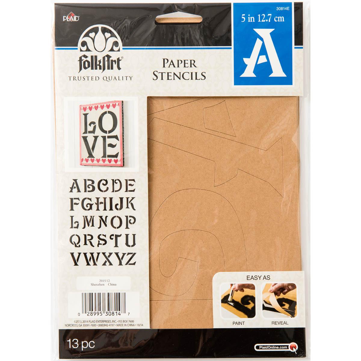 Plaid ® Stencils - Value Packs - Letter Stencils - Sinbad, 5
