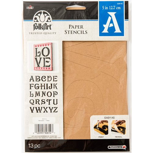 Plaid ® Stencils - Value Packs - Letter Stencils - Sinbad, 5""