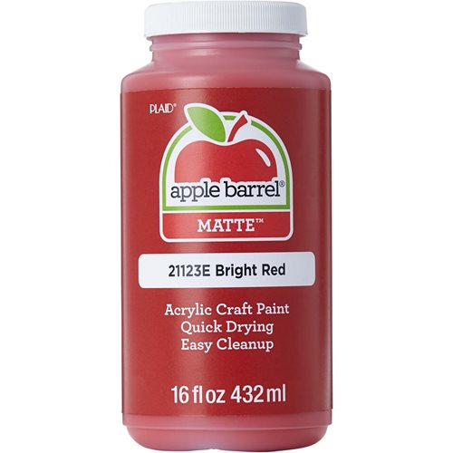 Apple Barrel ® Colors - Bright Red, 16 oz.