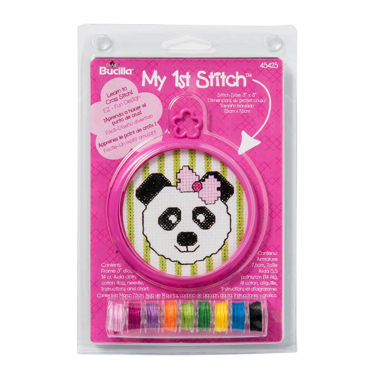 Shop Plaid Bucilla ® My 1st Stitch™ - Counted Cross Stitch Kits ...