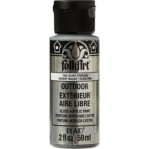 FolkArt ® Outdoor™ Acrylic Colors - Metallic - Silver Sterling, 2 oz.