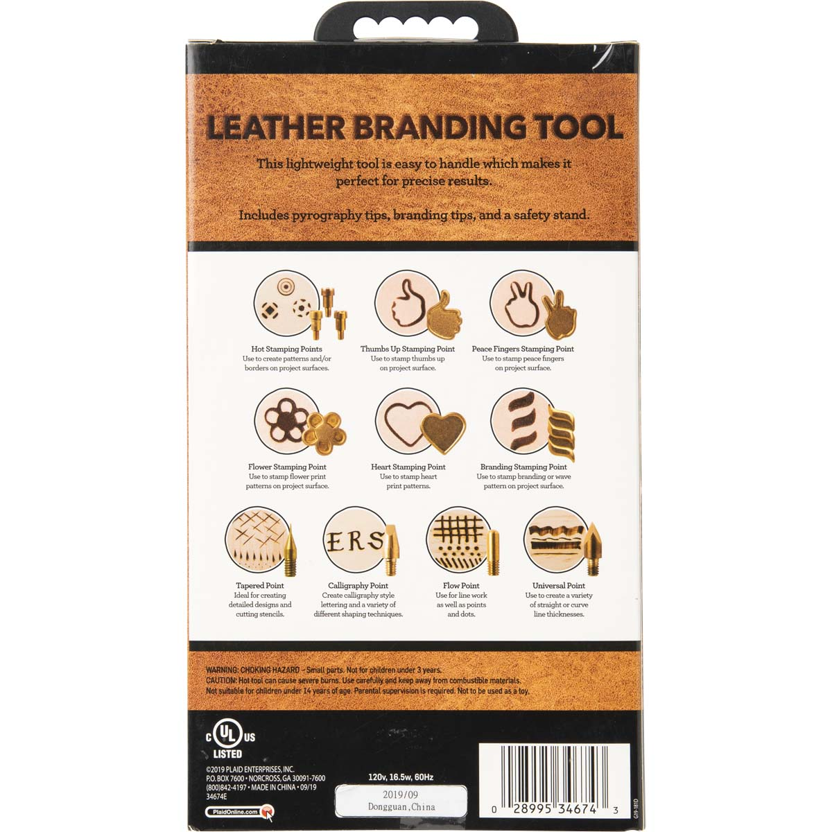 Plaid ® Leather Branding Tool, 15 pc. - 34674E