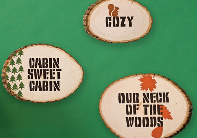 Cozy Cabin Wall Plaques from Handmade Charlotte™