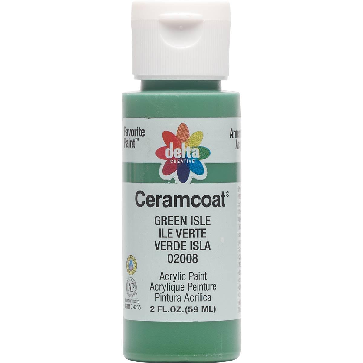 Delta Ceramcoat Acrylic Paint - Green Isle, 2 oz. - 020080202W