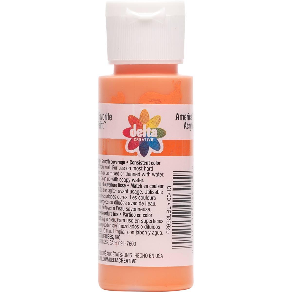 Delta Ceramcoat ® Acrylic Paint - Orange Soda, 2 oz. - 02692