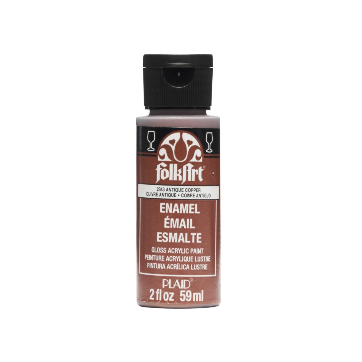 FolkArt ® Enamels™ - Metallic Antique Copper, 2 oz.