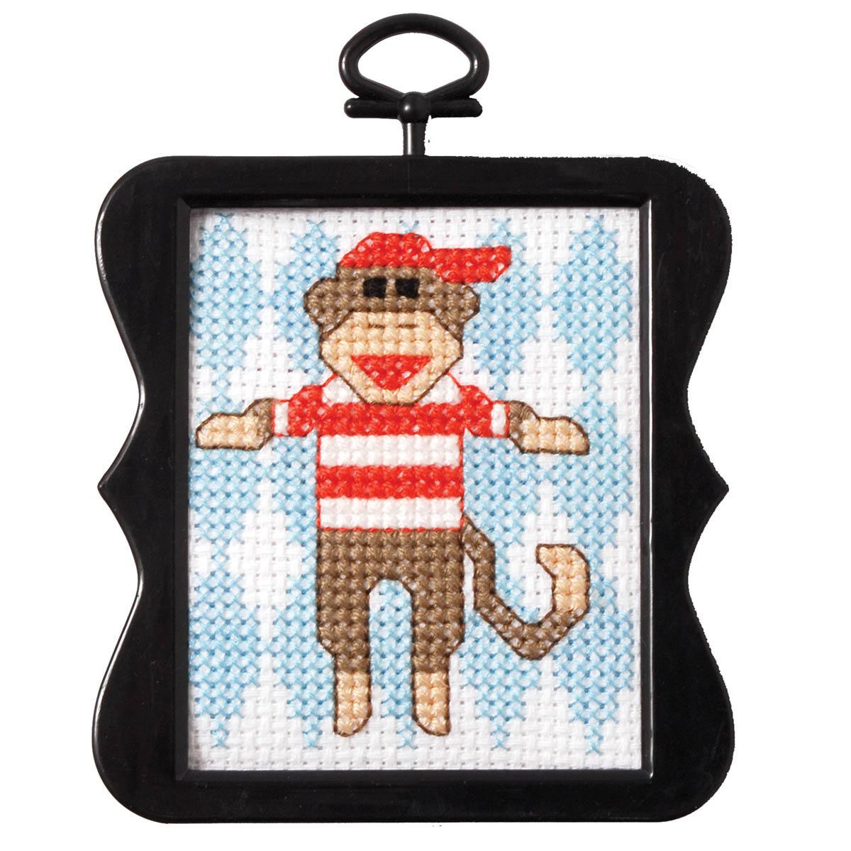Bucilla ® Counted Cross Stitch - Beginner Stitchery - Mini - Monkey