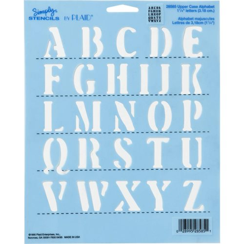 "Simply ® Stencils - 1-1/4"" Alphabet - Upper Case"