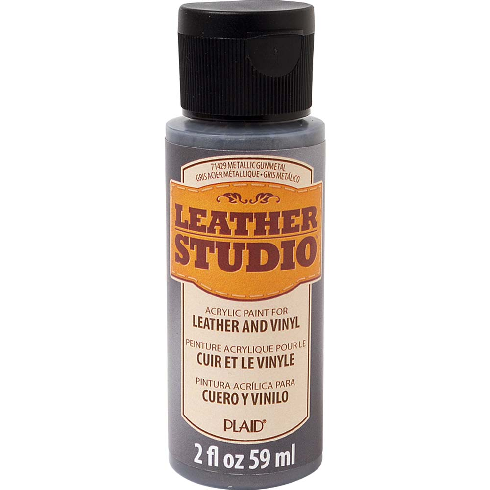 Leather Studio™ Leather & Vinyl Paint Colors - Metallic Gunmetal, 2 oz. - 71429
