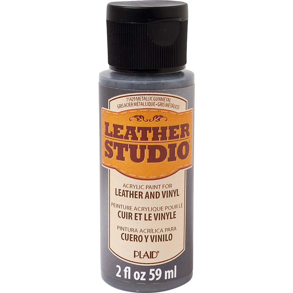 Leather Studio™ Leather & Vinyl Paint Colors - Metallic Gunmetal, 2 oz.