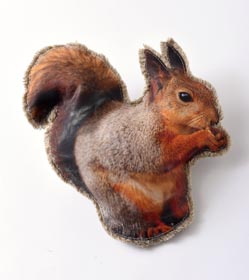 Taxidermy Decor - Squirrel Pillow