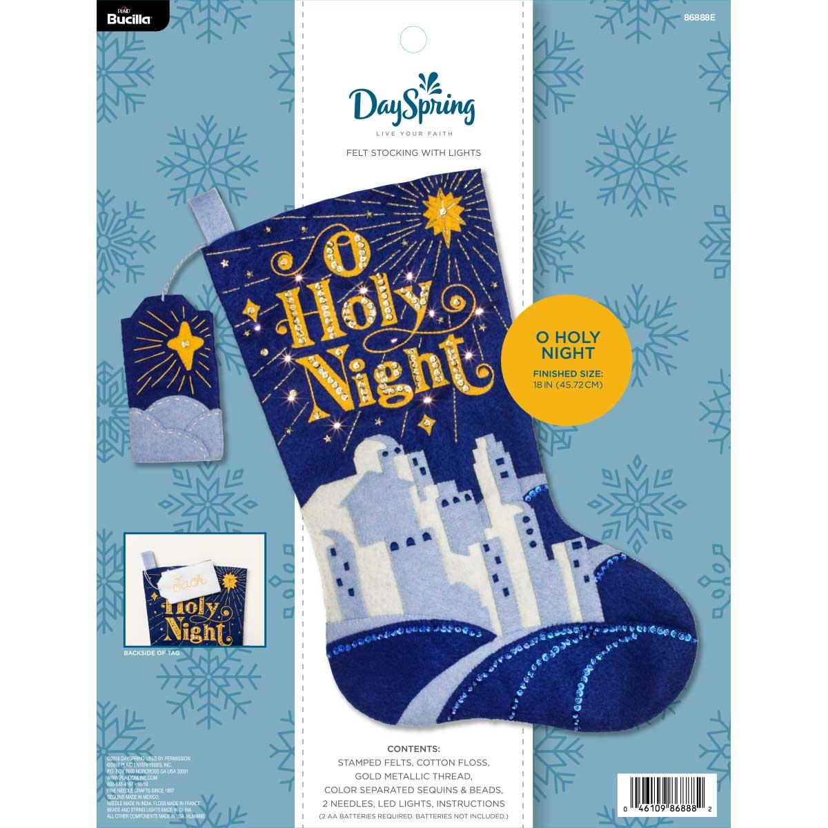Bucilla ® Seasonal - Felt - Stocking Kits - DaySpring - O Holy Night with Lights
