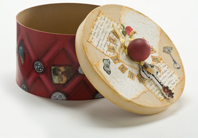 Mod Podge Romance Hat Box