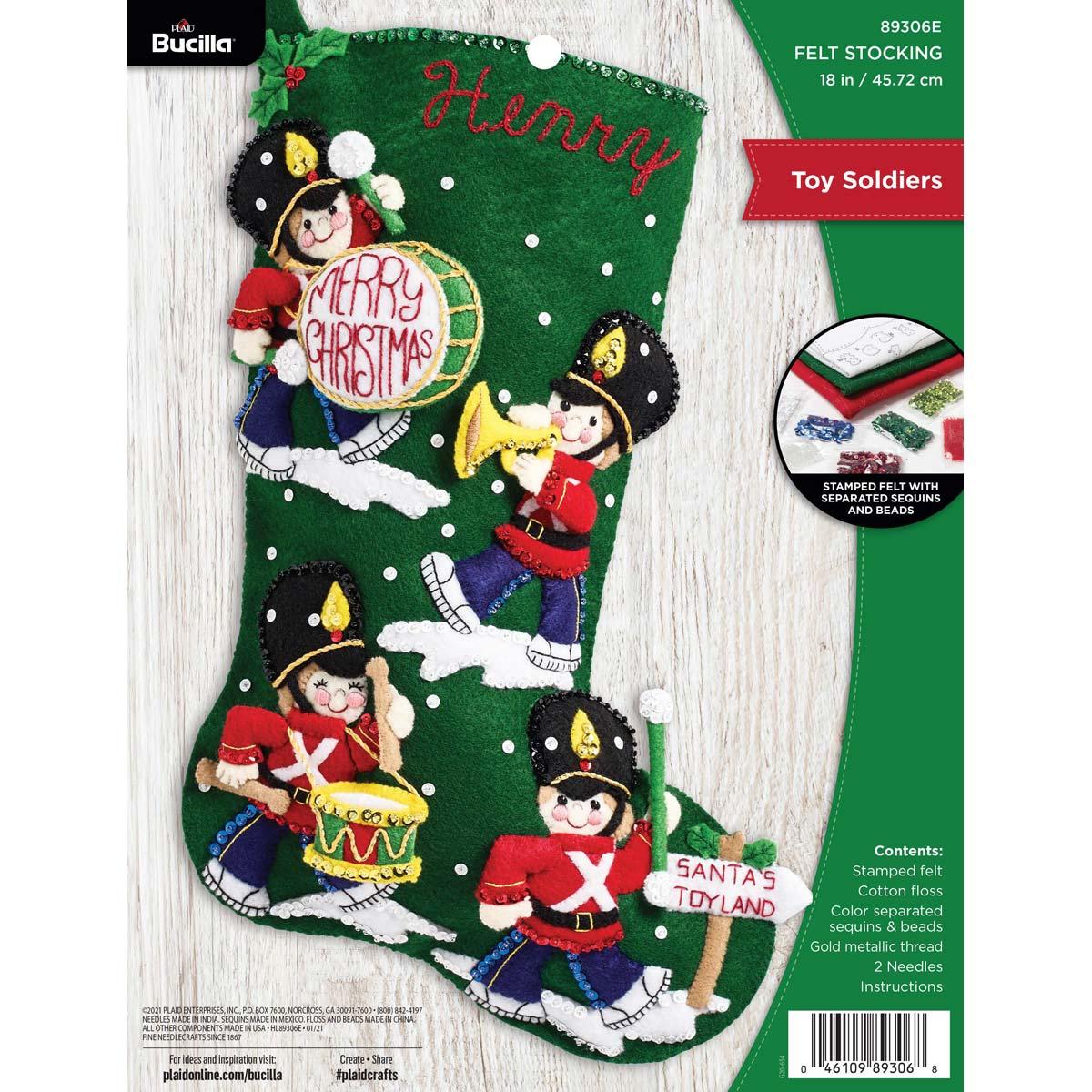 Bucilla ® Seasonal - Felt - Stocking Kits - Toy Soldiers - 89306E