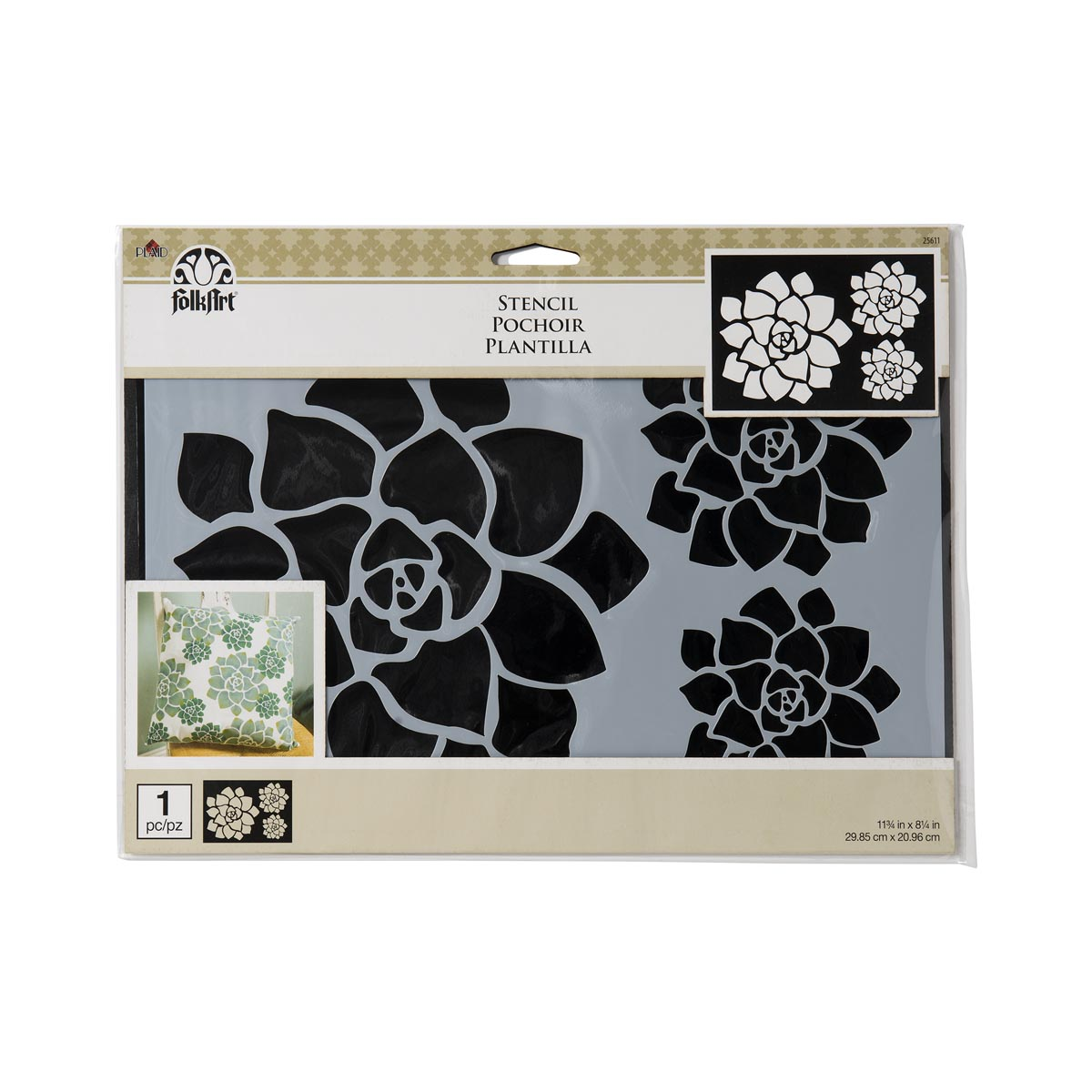 FolkArt ® Painting Stencils - Succulent Motif - 25611