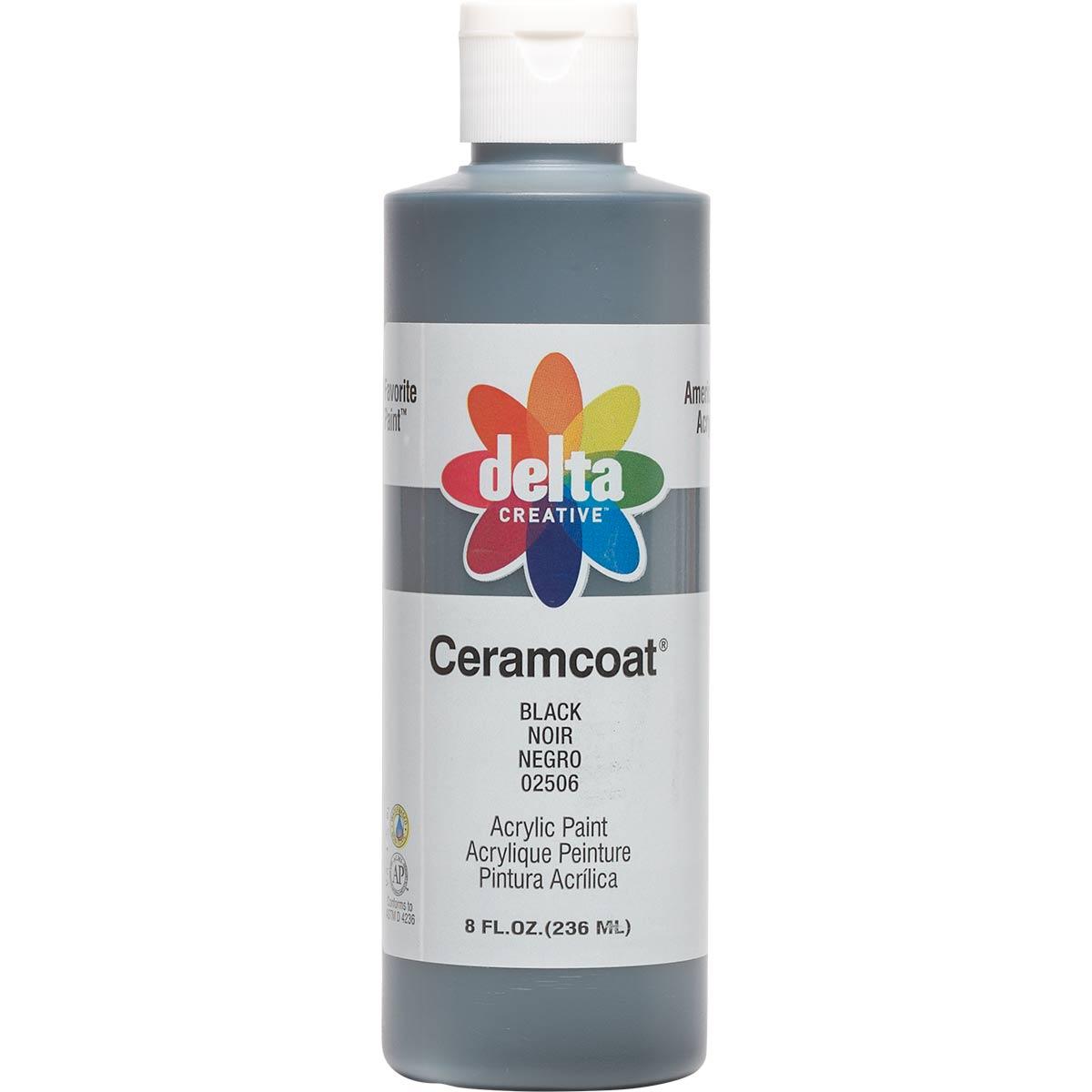 Delta Ceramcoat ® Acrylic Paint - Black, 8 oz. - 025060802W
