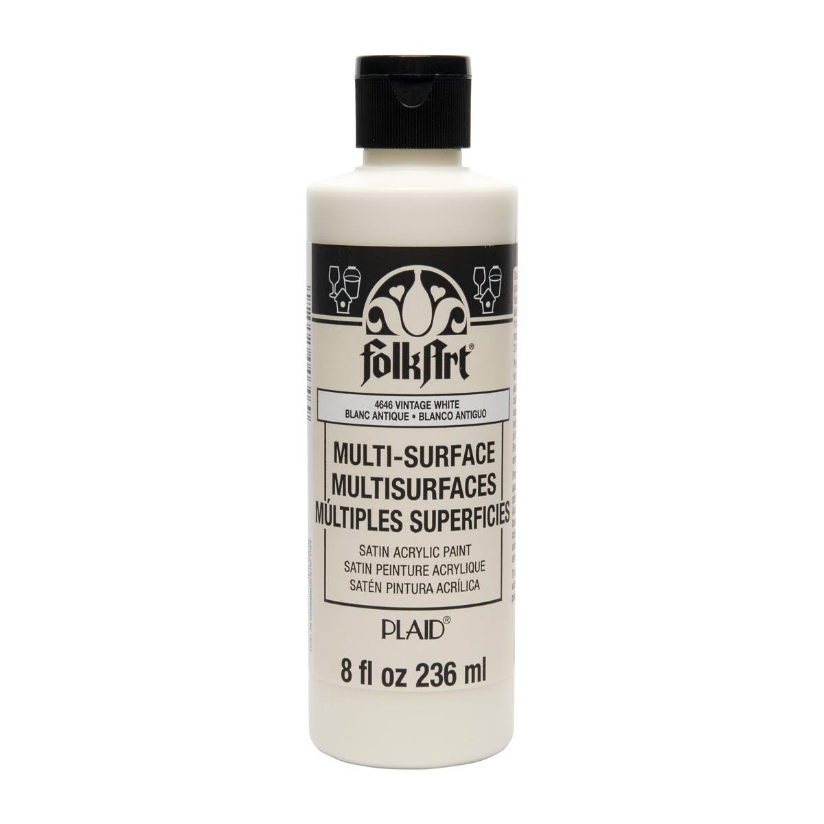 FolkArt ® Multi-Surface Satin Acrylic Paints - Vintage White, 8 oz. - 4646