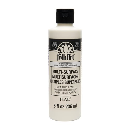 FolkArt ® Multi-Surface Satin Acrylic Paints - Vintage White, 8 oz.