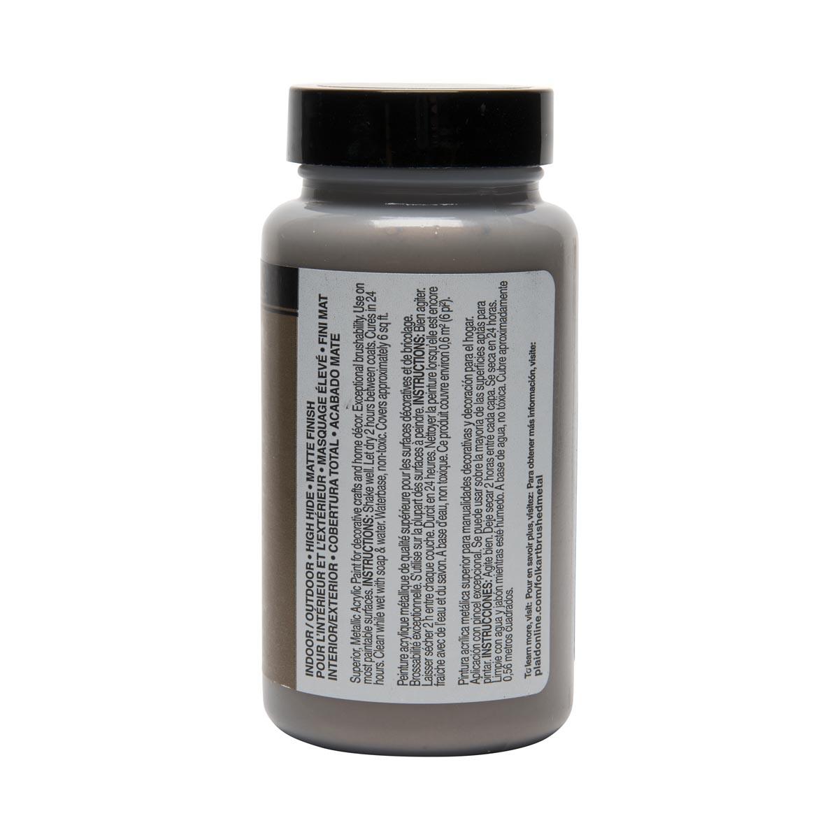 FolkArt ® Brushed Metal™ Acrylic Paint - Bronze, 4 oz.
