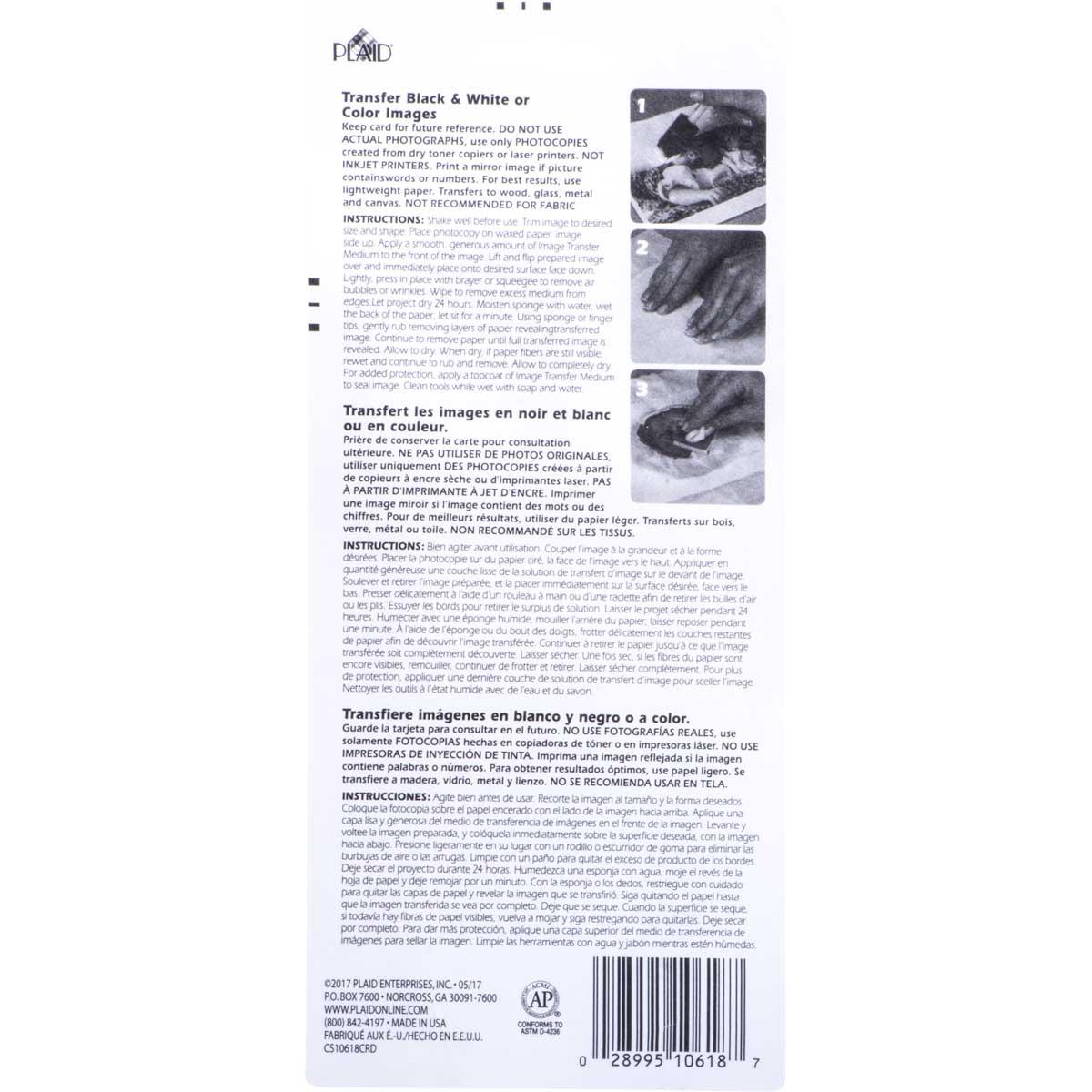 Mod Podge ® Image Transfer Medium Clear with Brush, 2 oz. - CS10618