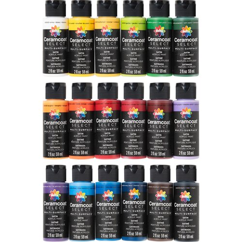 Delta Ceramcoat ® Select Multi-Surface Paint Set, 18 Colors - PROMOCMC4