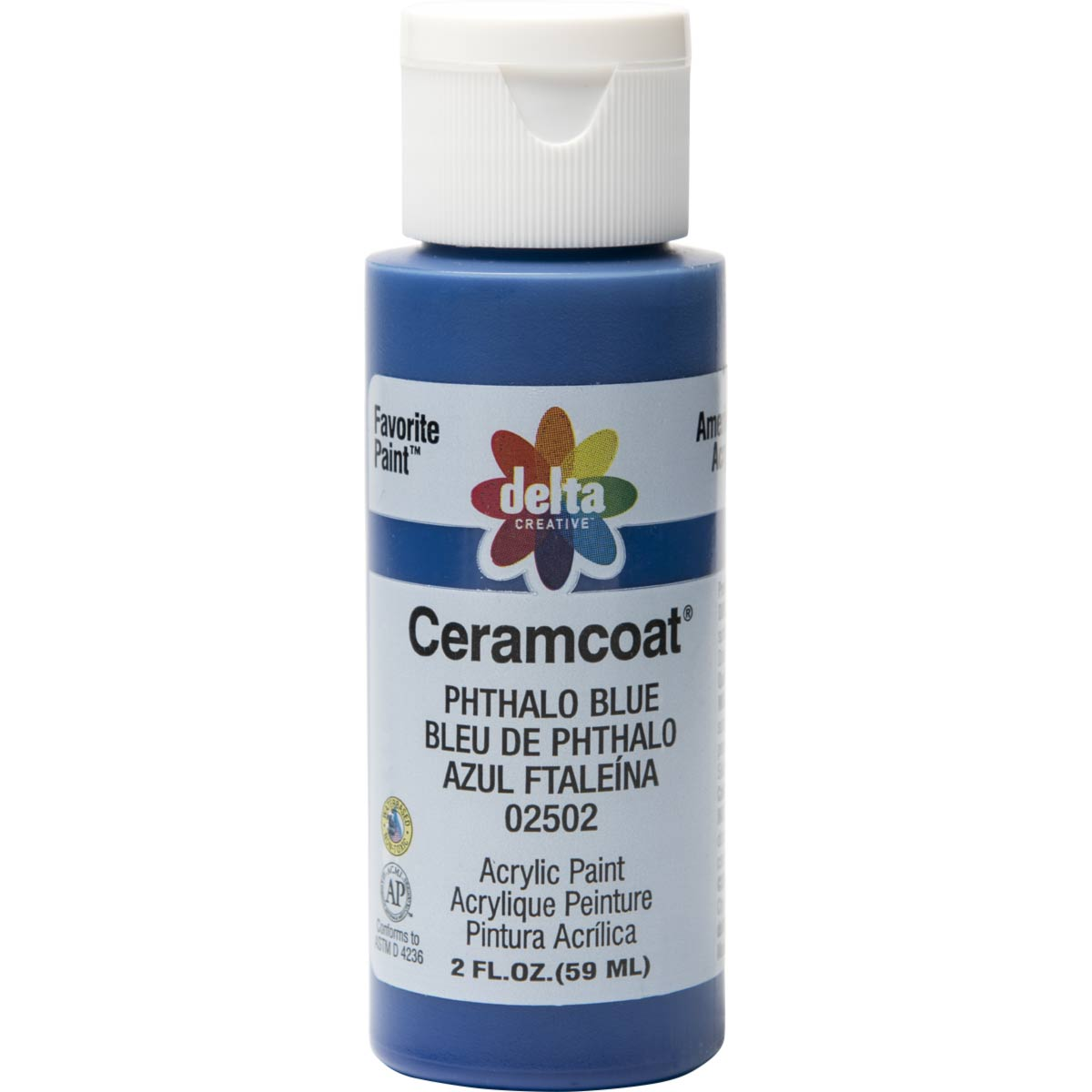 Delta Ceramcoat ® Acrylic Paint - Phthalo Blue, 2 oz.