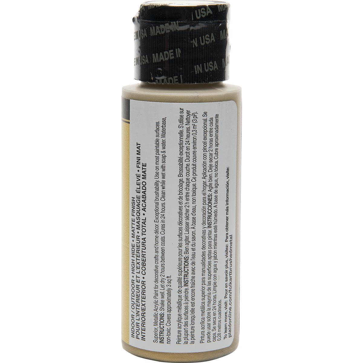 FolkArt ® Brushed Metal™ Acrylic Paint - Gold, 2 oz. - 5121
