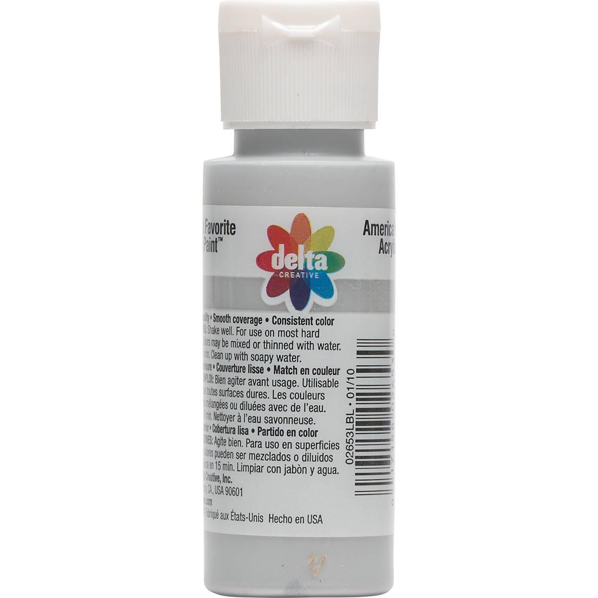Delta Ceramcoat ® Acrylic Paint - Metallic Platinum, 2 oz.