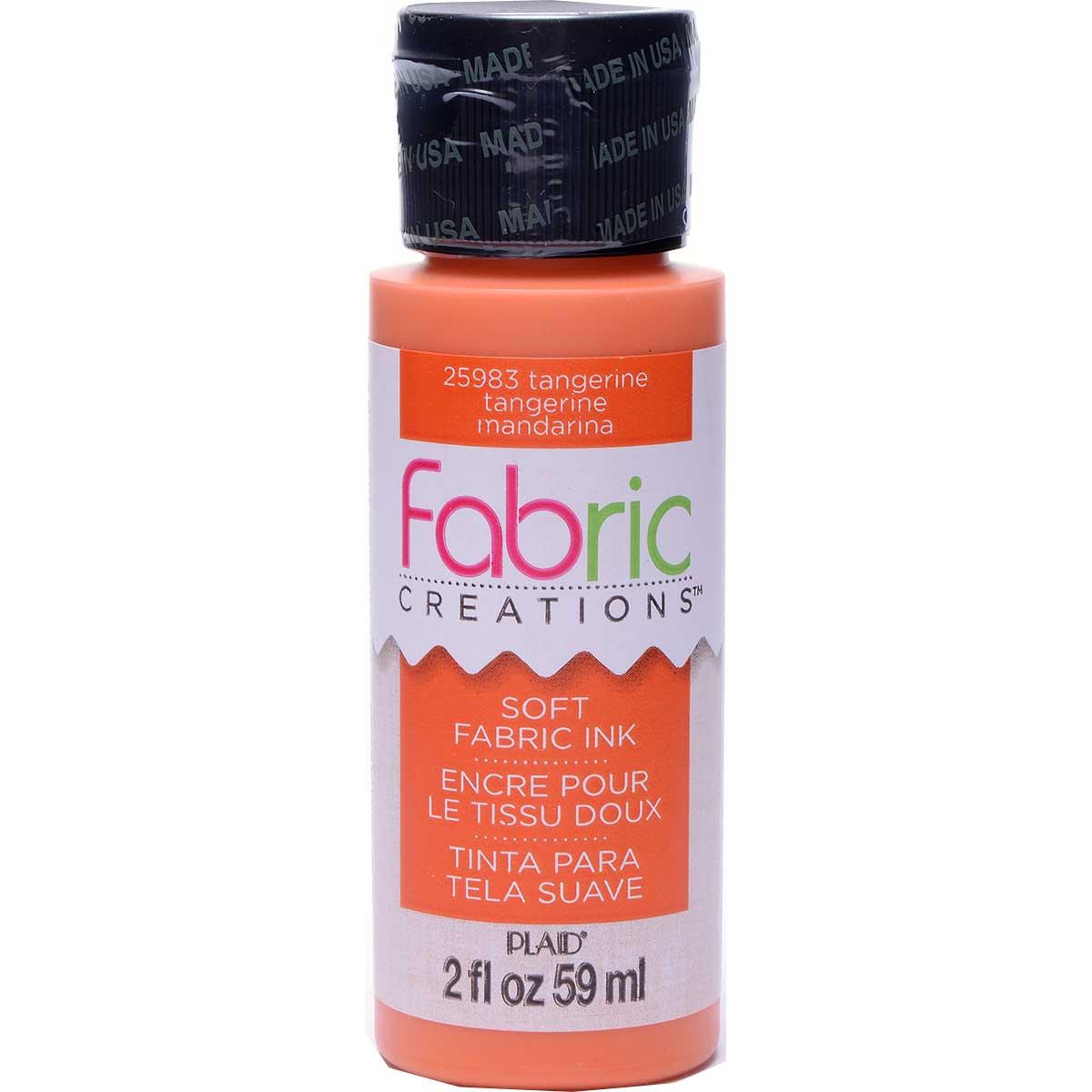 Fabric Creations™ Soft Fabric Inks - Tangerine, 2 oz.