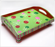Christmas Ornament Tray
