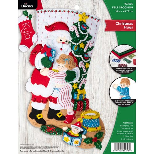 Bucilla ® Seasonal - Felt - Stocking Kits - Christmas Hugs - 89253E