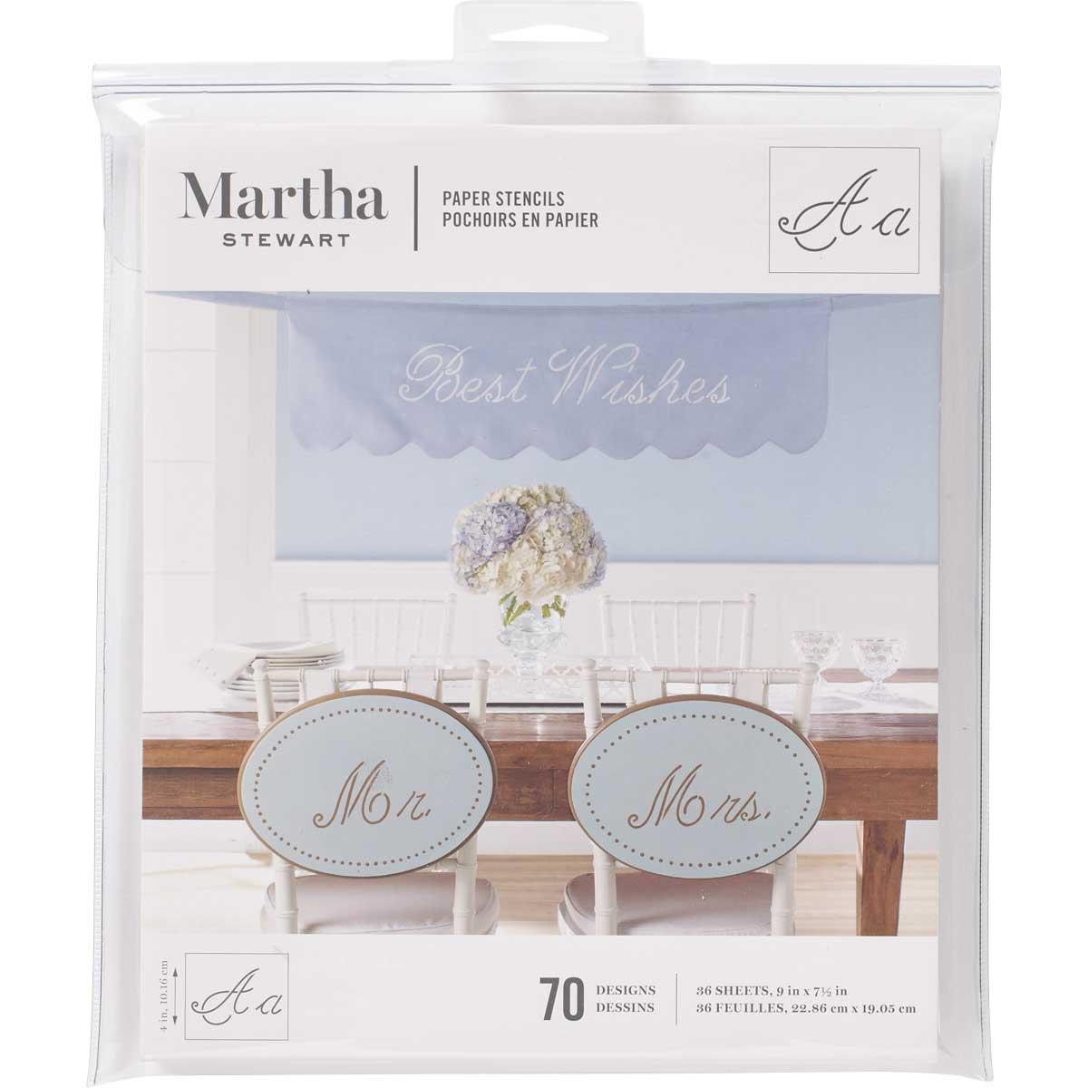Martha Stewart® Script Alphabet Paper Stencils
