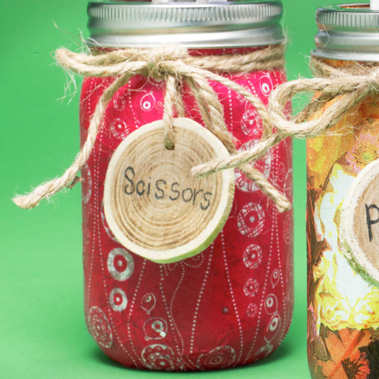 Mason Jar Supply Container