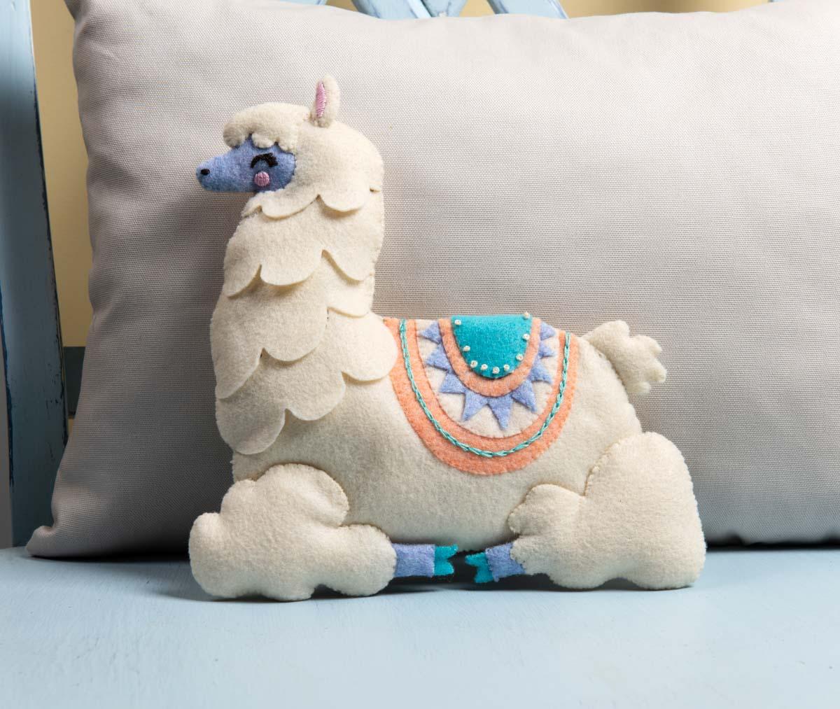 Bucilla ® Baby - Felt - Crib Ensembles - Llama Baby - Pillow - 47889E