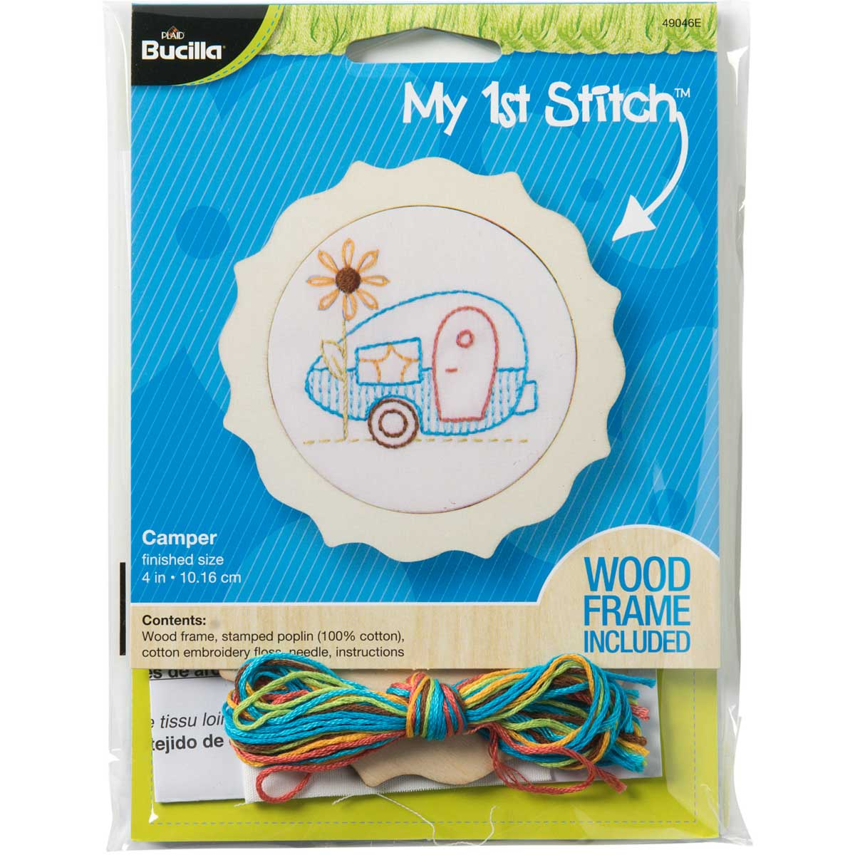 Bucilla ® My 1st Stitch™ - Stamped Embroidery Kits - Camper - 49046E