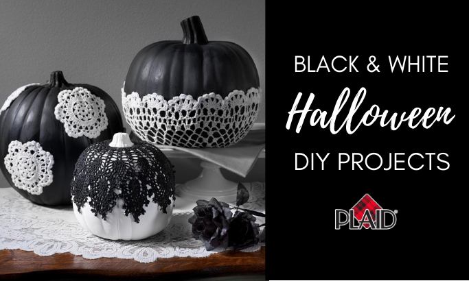 Black & White Halloween DIY Projects