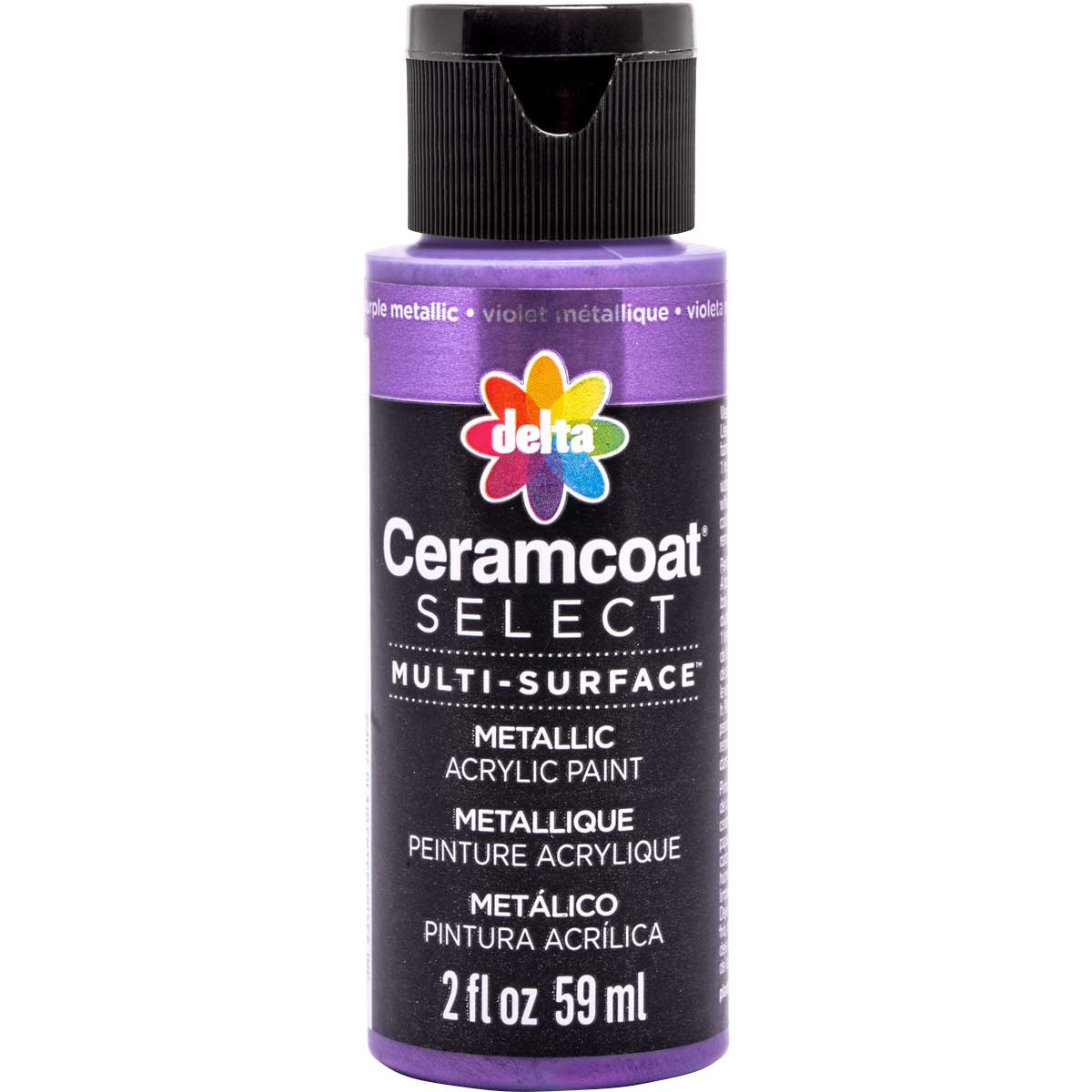 Delta Ceramcoat ® Select Multi-Surface Acrylic Paint - Metallic - Purple, 2 oz.